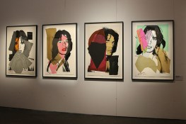 Original pieces of work from key collaborators who helped to make the band not just musical but cultural icons are also on show, including Andy Warhol lithographs of Mick Jagger. (Gordon Donovan/Yahoo News)