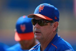 New York Mets minor league pitching coordinator Ron Romanick gives instructions to young pitchers at the New York Mets spring training facility in Port St. Lucie, Fl., Wednesday, March 1, 2017. (Gordon Donovan/Yahoo Sports)