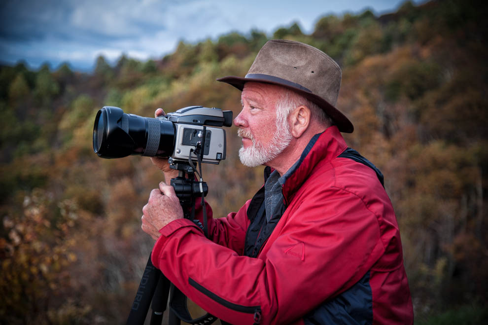 Photographer Gordon Kreplin in the Blue Ridge Mountains