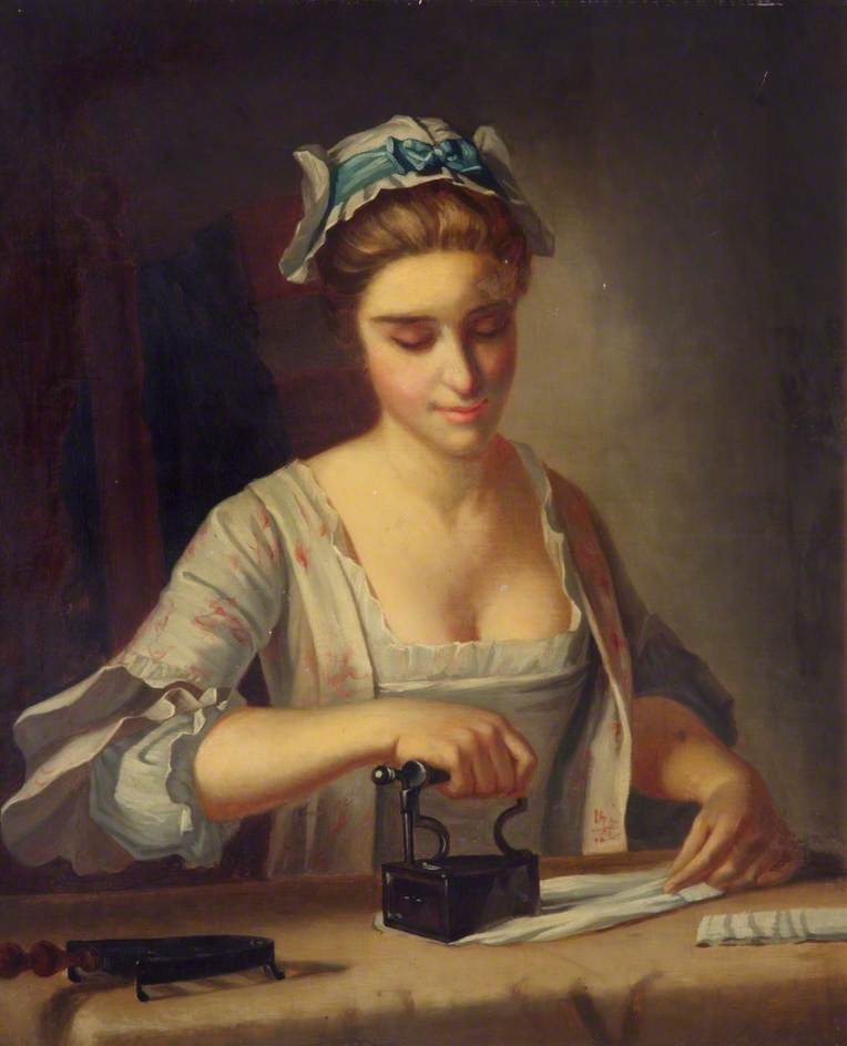 Morland, Henry Robert, c.1716-1797; Domestic Employment: Ironing