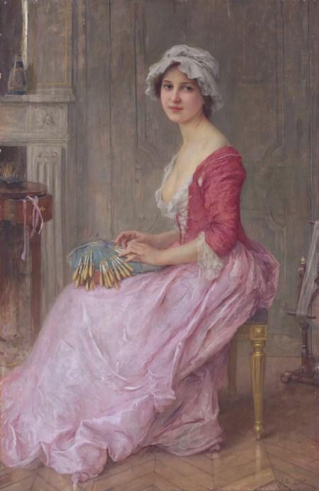 The Lace Maker  *oil on canvas  *147.9 x 97.1 cm  *signed b.r: C A Lenoir