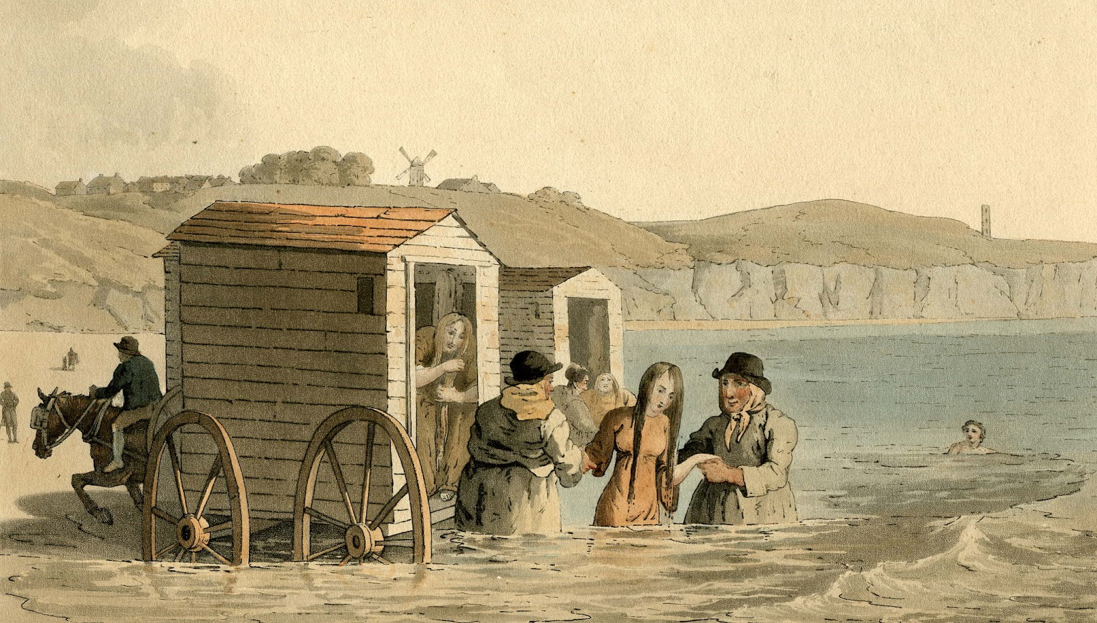 Yorkshire bathing machines 1813