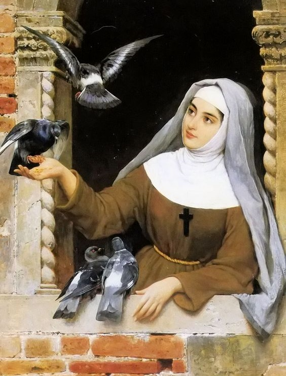 Eugene von Blaas — Feeding the Pigeons