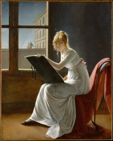 Marie-Denise Villers Self-portrait Young Woman Drawing