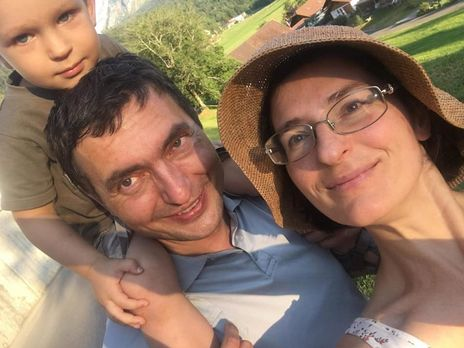 Иванов с женой и младшим сыном