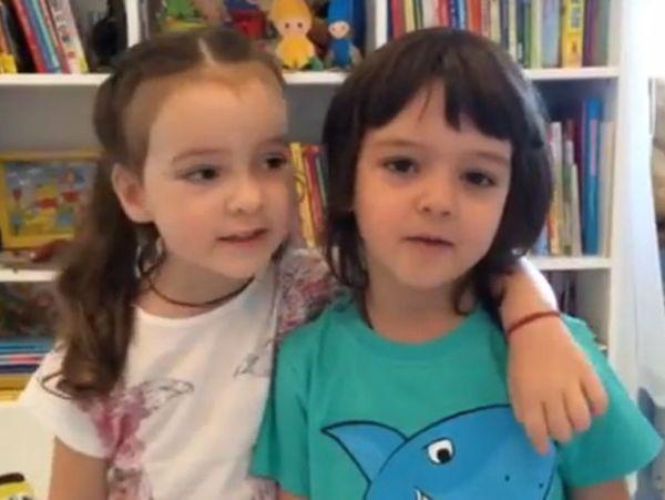 Дети Киркорова записали видеообращение к детям Пугачевой ...