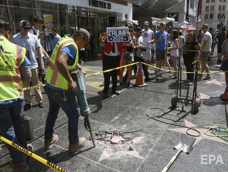 Власти Голливуда хотят убрать звезду Трампа с Аллеи славы ...