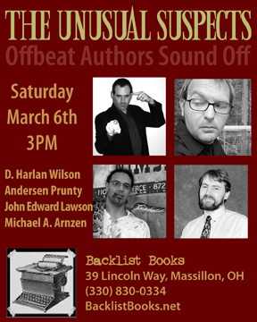 Unusual Suspects Reading March 6th in Ohio