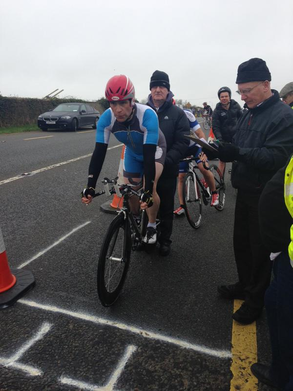 GoreyCC's Murt Doyle at the start of his TT