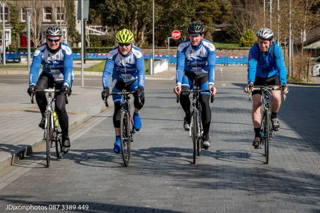 The cyclists arriving at the Civic Centre Gorey, 25/03/2016