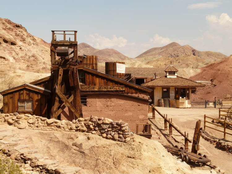 California Ghost Town Calico was named for the coloring of the surrounding mountains.