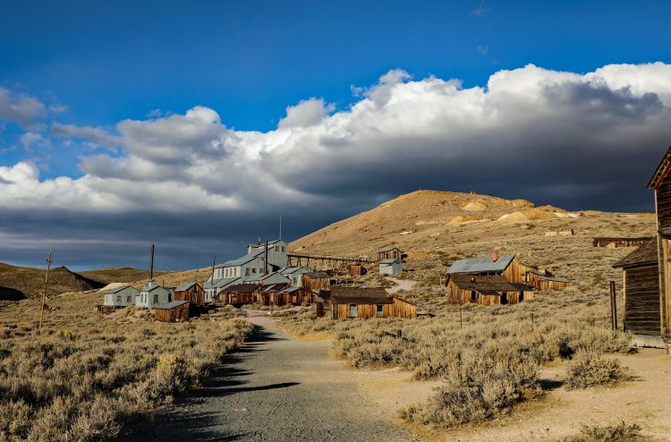 California Ghost Town of Bodie is located high in the Sierra Nevada.