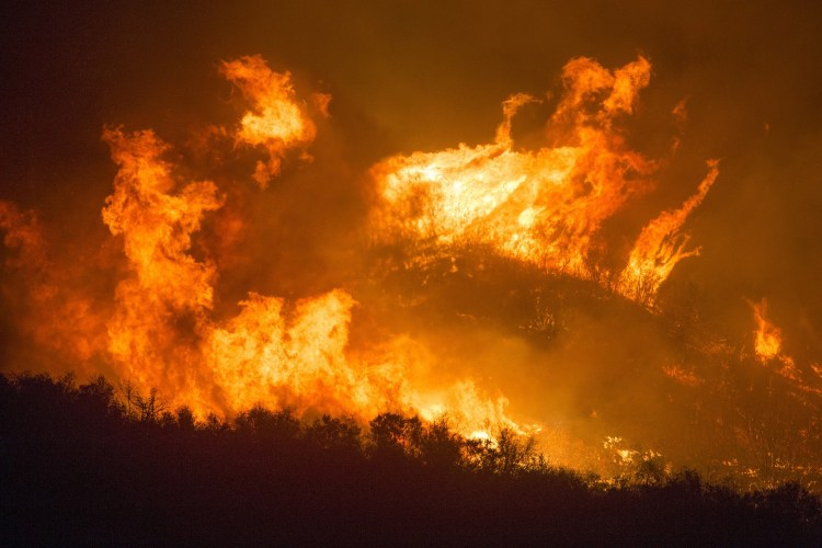 California averages 300,000 acres of wildfire damage per year.