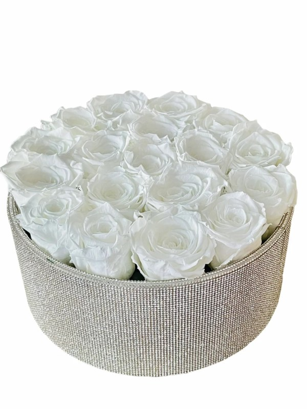 Crystal gift box with roses