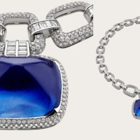 Gorgeous Bulgari 180.98 Ct Burmese Sapphire and Diamond Necklace