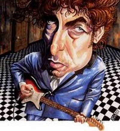 Bob Dylan caricatura