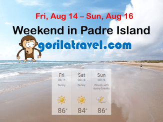 WEEKEND IN PADRE ISLAND BEACH, TEXAS STARTING AT $170 2/NIGHTS/GUESTS