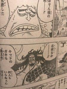 ワンピース924話ネタバレキッドルフィ覇王色第一幕完