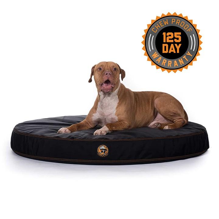 gorilla ballistic tough round orthopedic dog bed