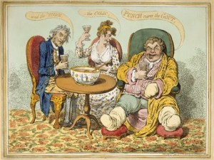Another cartoon by gout sufferer James Gillray.