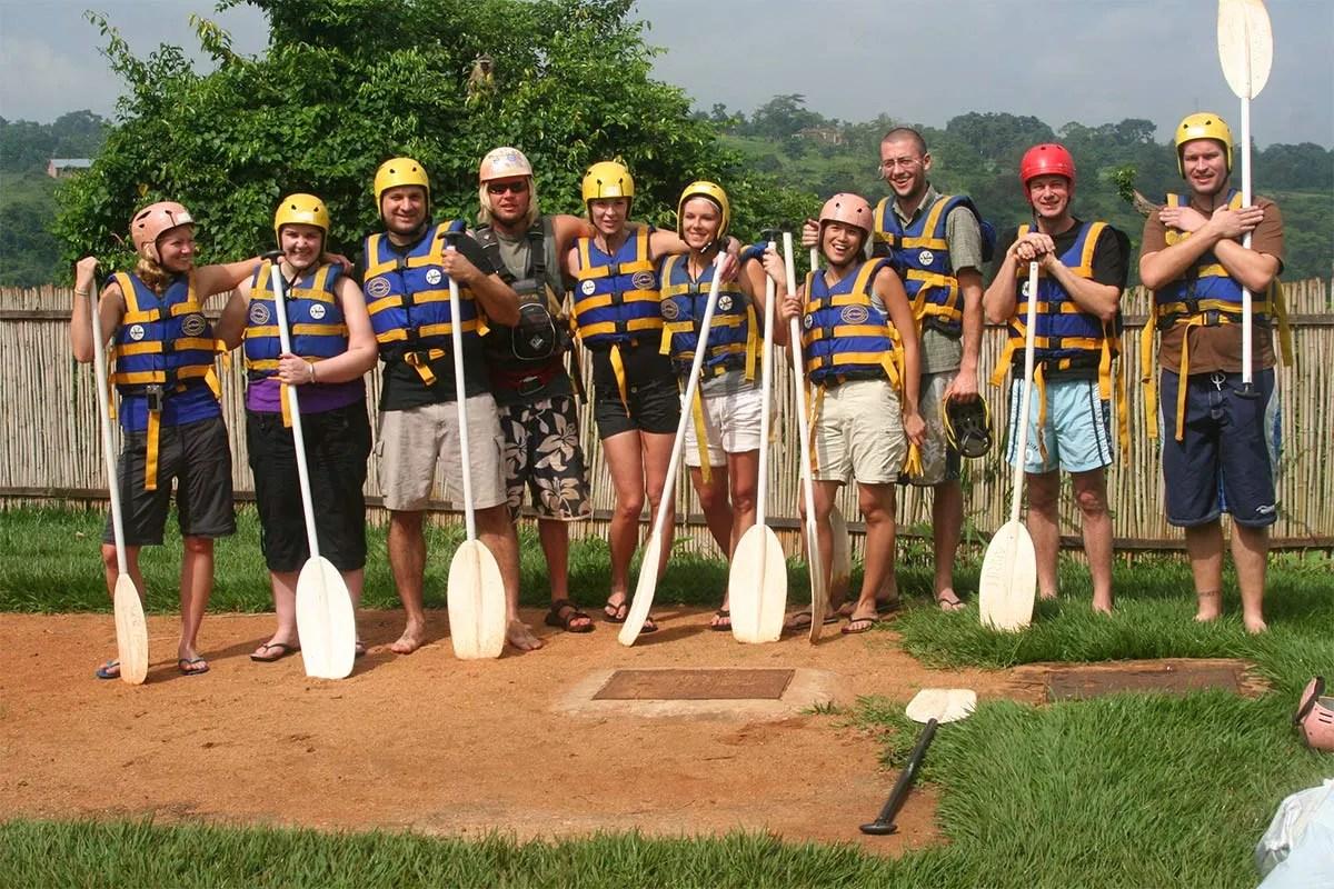 Team Rafting at The Source of the Nile River, Jinja - Uganda