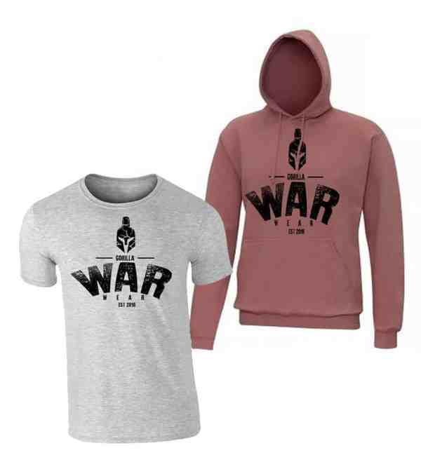 SPARTA HOODIE / T SHIRT COMBO - DEAD ROSE