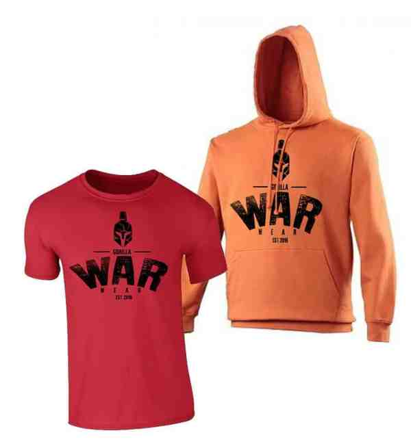 SPARTA HOODIE / T SHIRT COMBO -SCORCHED ORANGE