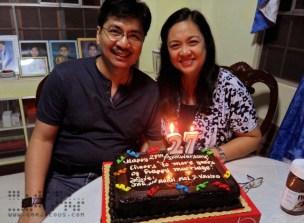 Happy 27th Wedding Anniversary, Mom and Dad!
