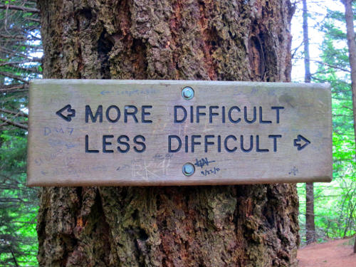 More difficult and Less difficult