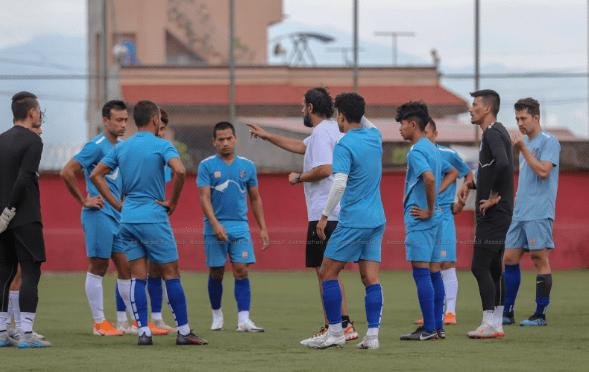 Gorkhali football team resumes training in Pokhara for SAFF Preparation