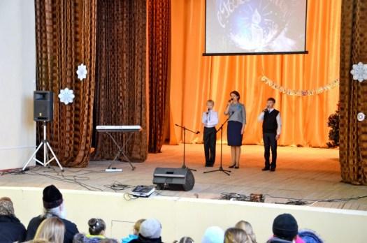 Рождественский концерт в доме культуры деревни Сельниково