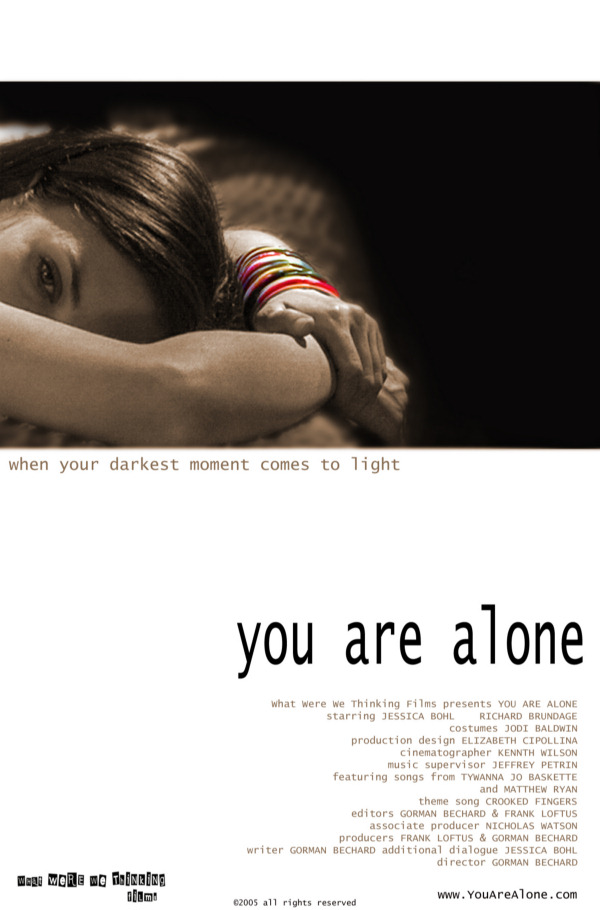 YOU ARE ALONE poster