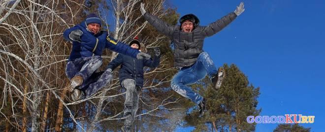 Зимний отдых в городском лесопарке
