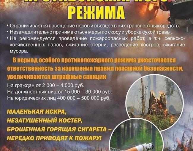Об установлении особого противопожарного режима на территории города Каменска – Уральского