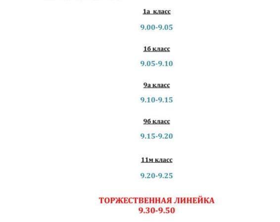 ИНФОРМАЦИЯ ПО ДНЮ ЗНАНИЙ 01.09.2020Г.