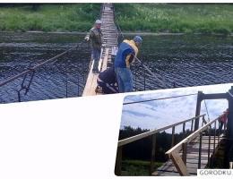 Подвесной мост в селе Исетском начал вторую жизнь