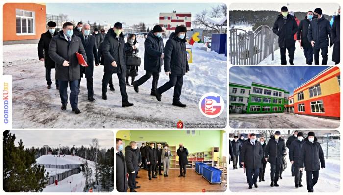 Евгений Куйвашев дал оценку реализованным проектам в Каменске-Уральском – детский сад, дорога и горнолыжный комплекс
