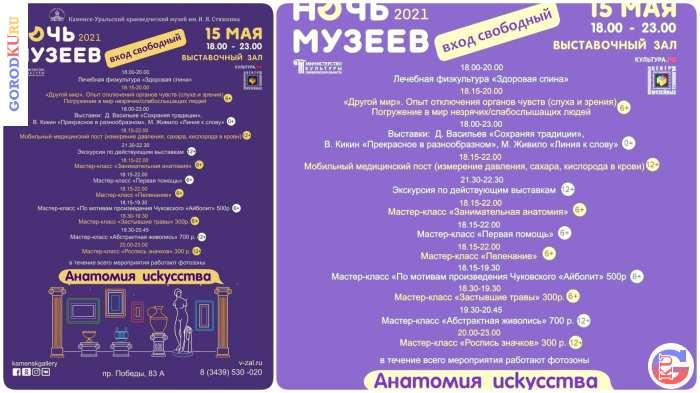 Ночь музеев-2021 в Выставочном зале Каменска-Уральского