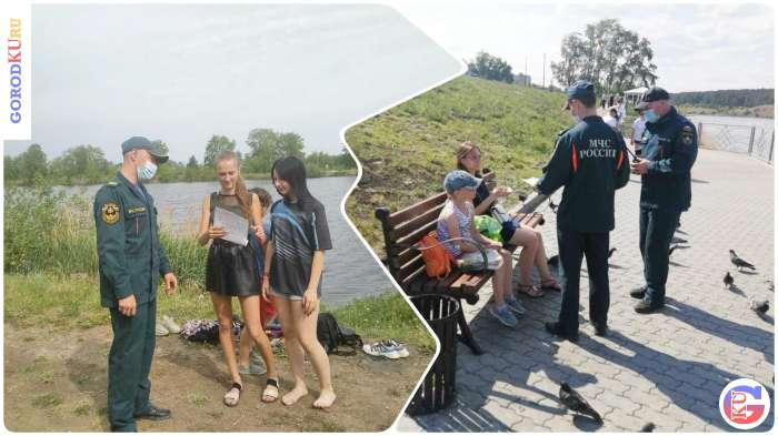 Патрулирование на водоемах Каменска-Уральского с разъяснительной работой среди населения