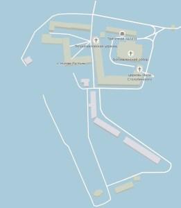 План монастыря Нилова пустынь