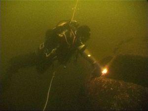 Погружений к затонувшему самолету на озере Сиг.