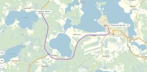 Схема проезда до озера Сабро