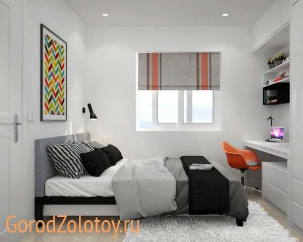 дизайн маленькой спальни 2019 7