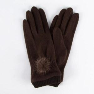Перчатки женские цвет коричневый [LG61-02]