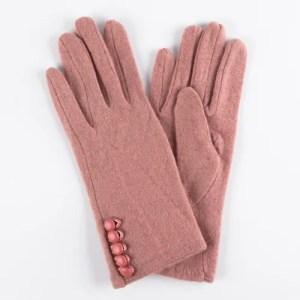 Перчатки женские цвет пыльная роза [LG08-06]