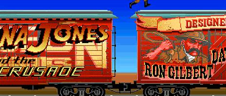 El nombre de Ron Gilbert en la clásica secuencia de créditos de Indiana Jones y la Última Cruzada