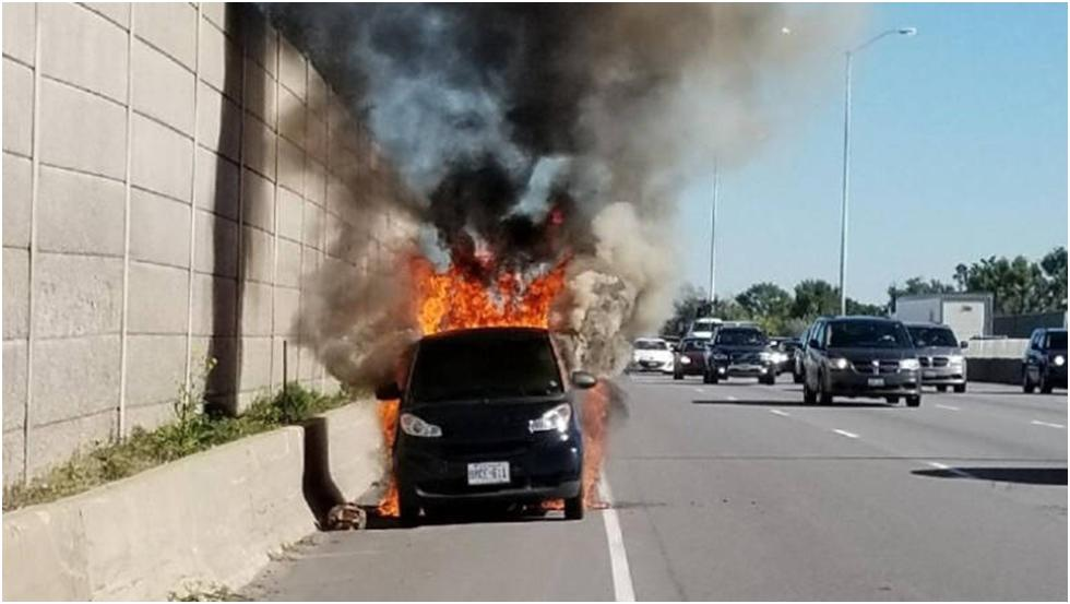 Smart Car on fire