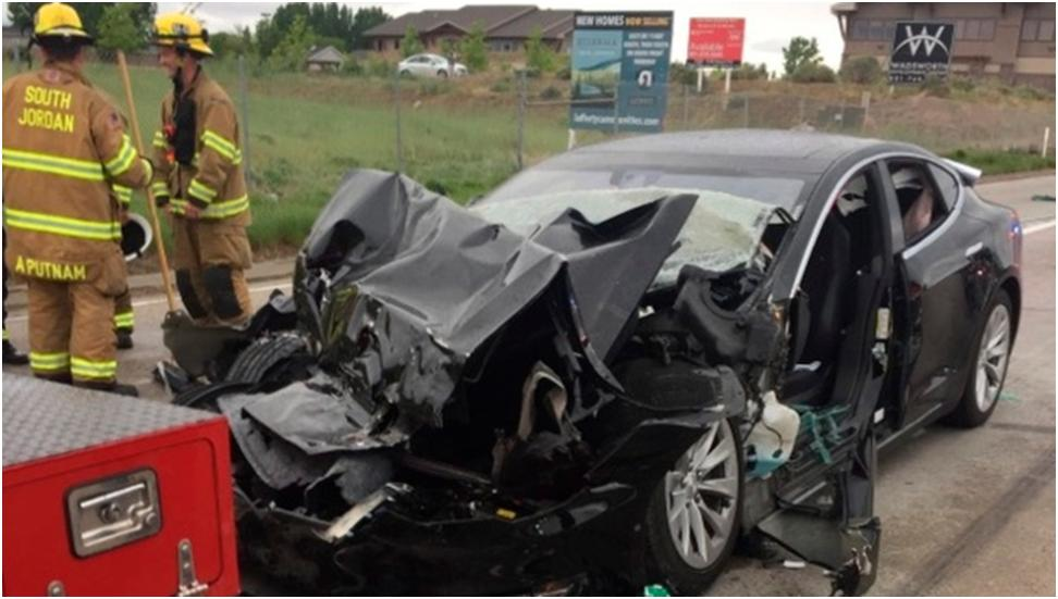 Suspicious Facts Reported in Tesla Crash of South Jordan Utah