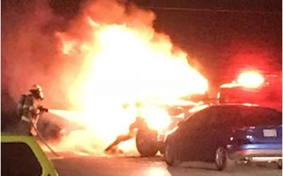 Fire at 2-Vehicle Collision Is A Warning Of Future Tragedy