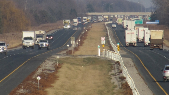 Highway 401 Westbound Traffic Volume Completed For Kenesserie Road Site
